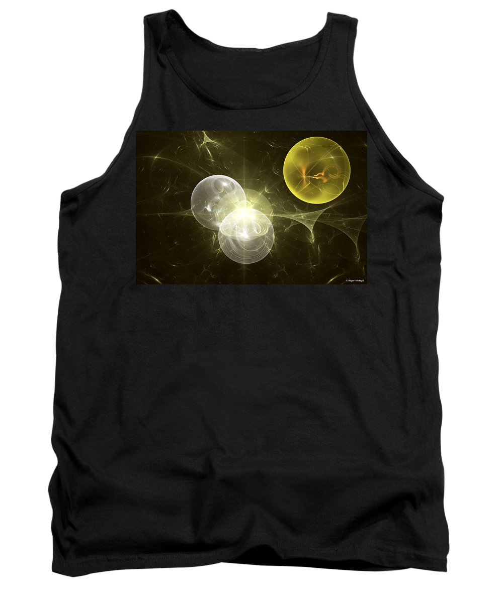 Nuclear Tank Top featuring the digital art Nuclear Fusion by Roger Wedegis