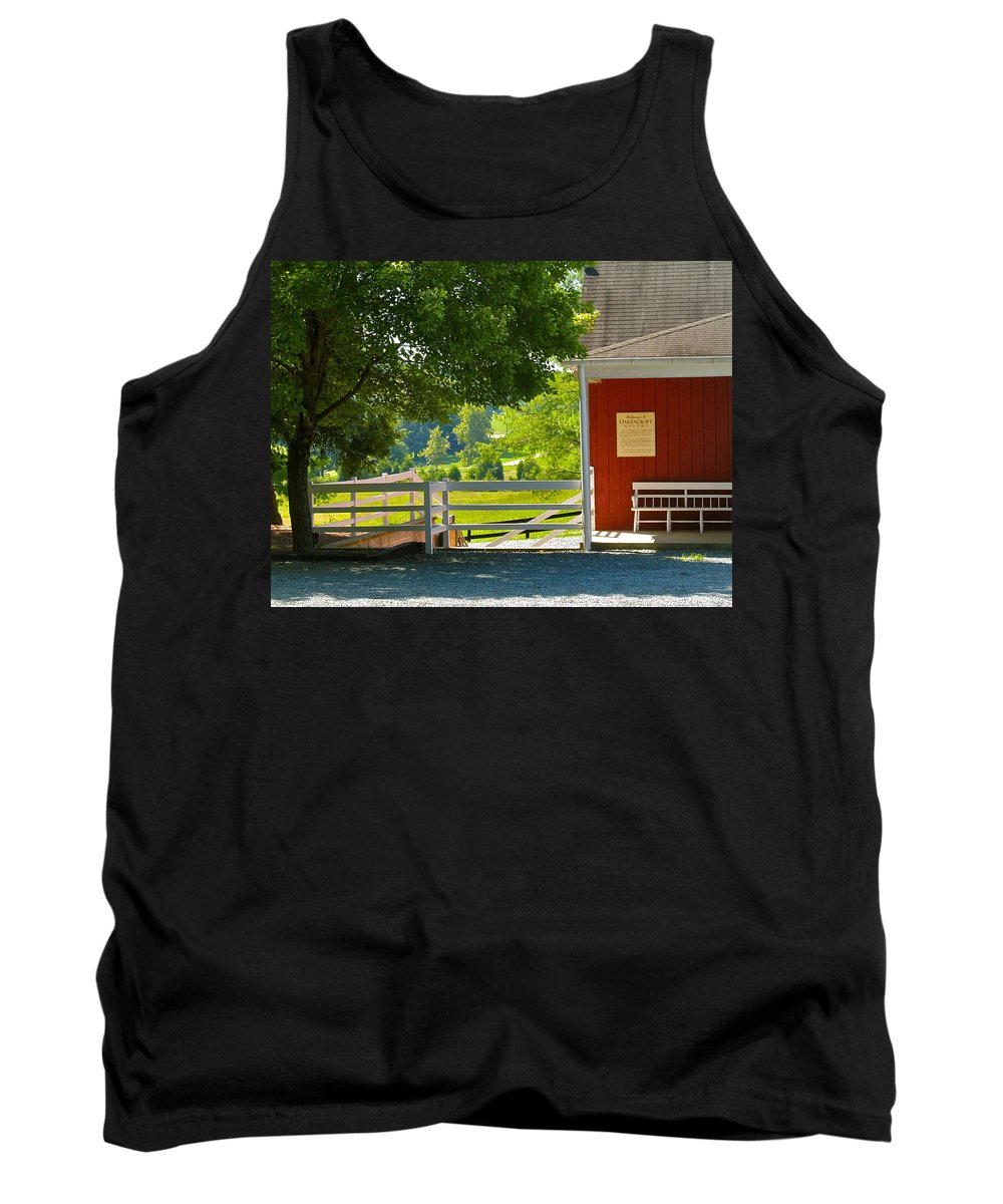 Oakencroft Tank Top featuring the photograph Oakencroft Winery by Lexi Heft