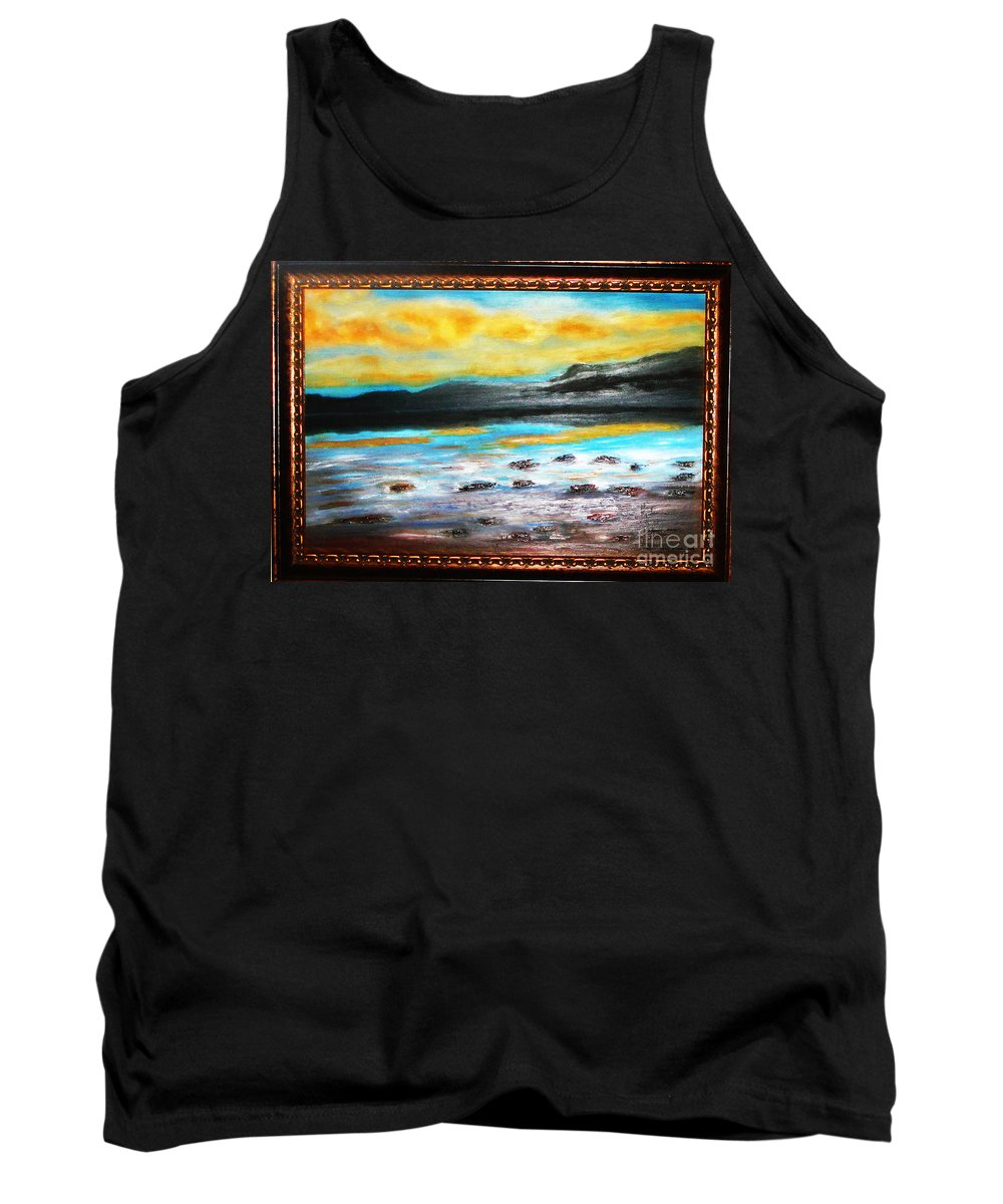 Oil Painting Tank Top featuring the painting Ocean View by Yael VanGruber
