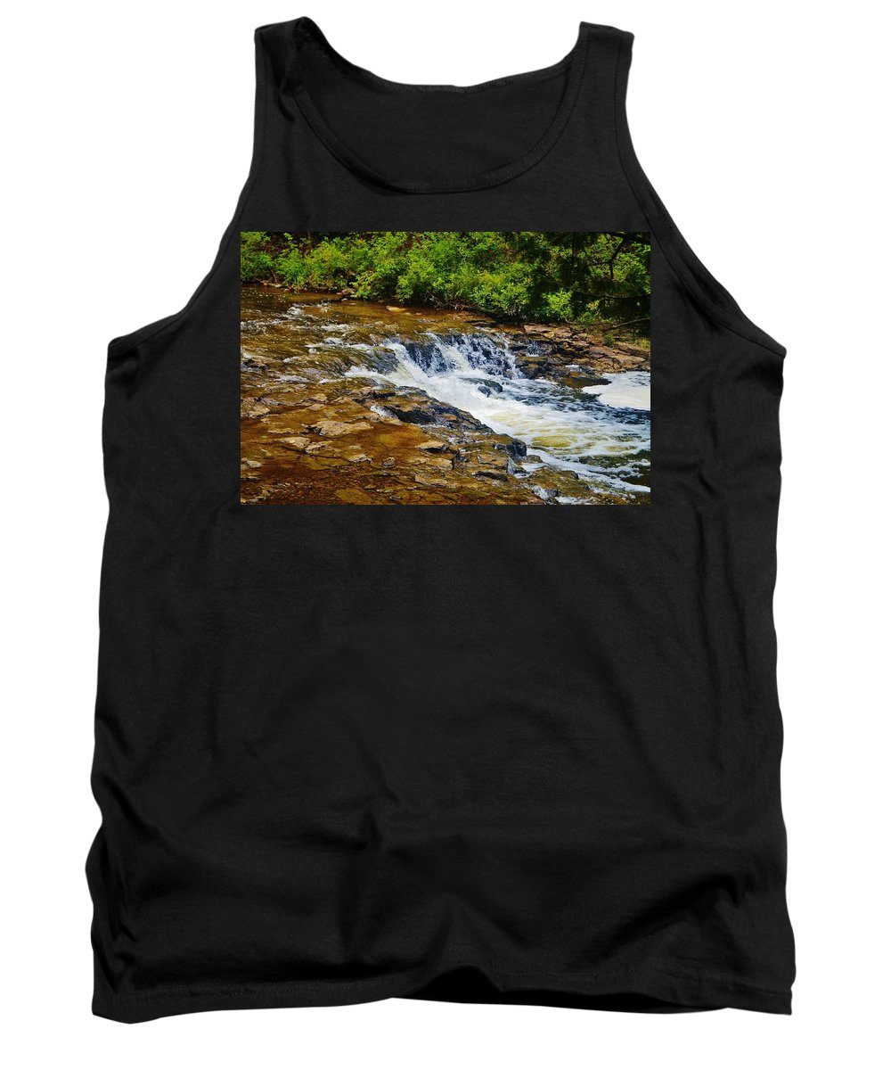Tank Top featuring the photograph Ocqueoc Falls 2 by Daniel Thompson