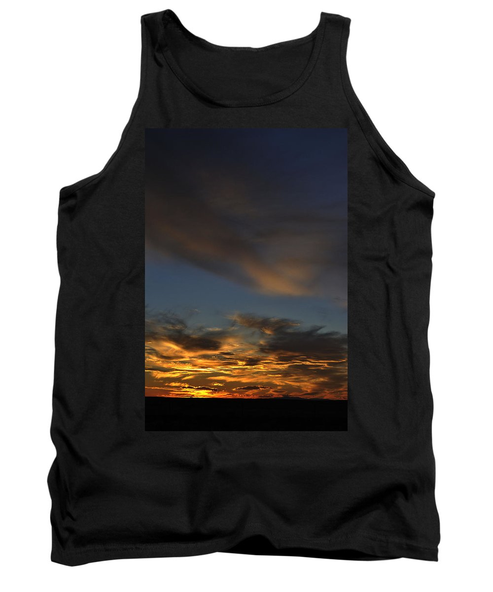 Landscape Tank Top featuring the photograph October Sunset by Pam Romjue
