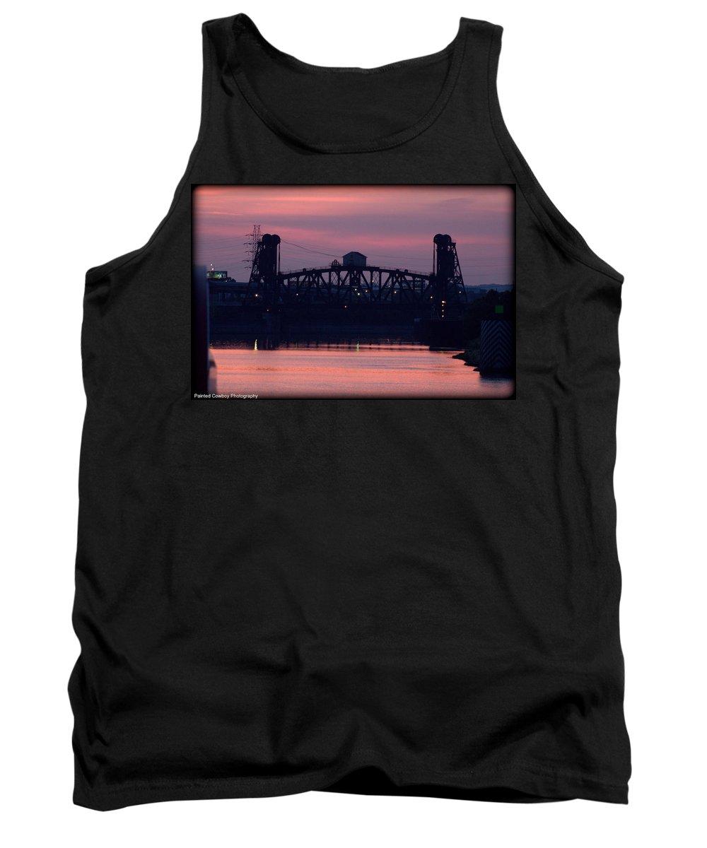 Boat Tank Top featuring the photograph Ohio River Railroad Bridge by Daniel Jakus