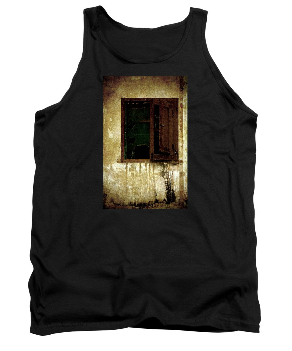 Grunge Tank Top featuring the photograph Old And Decrepit Window by RicardMN Photography