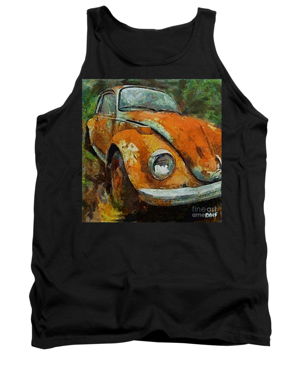 Car Tank Top featuring the painting Old Beetle by Dragica Micki Fortuna
