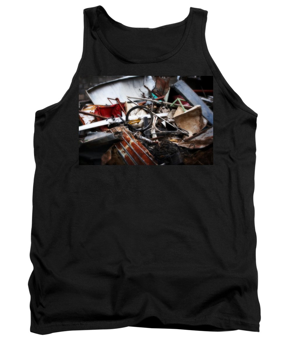 Bikes Tank Top featuring the painting Old Bikes - Series IIi by Doc Braham