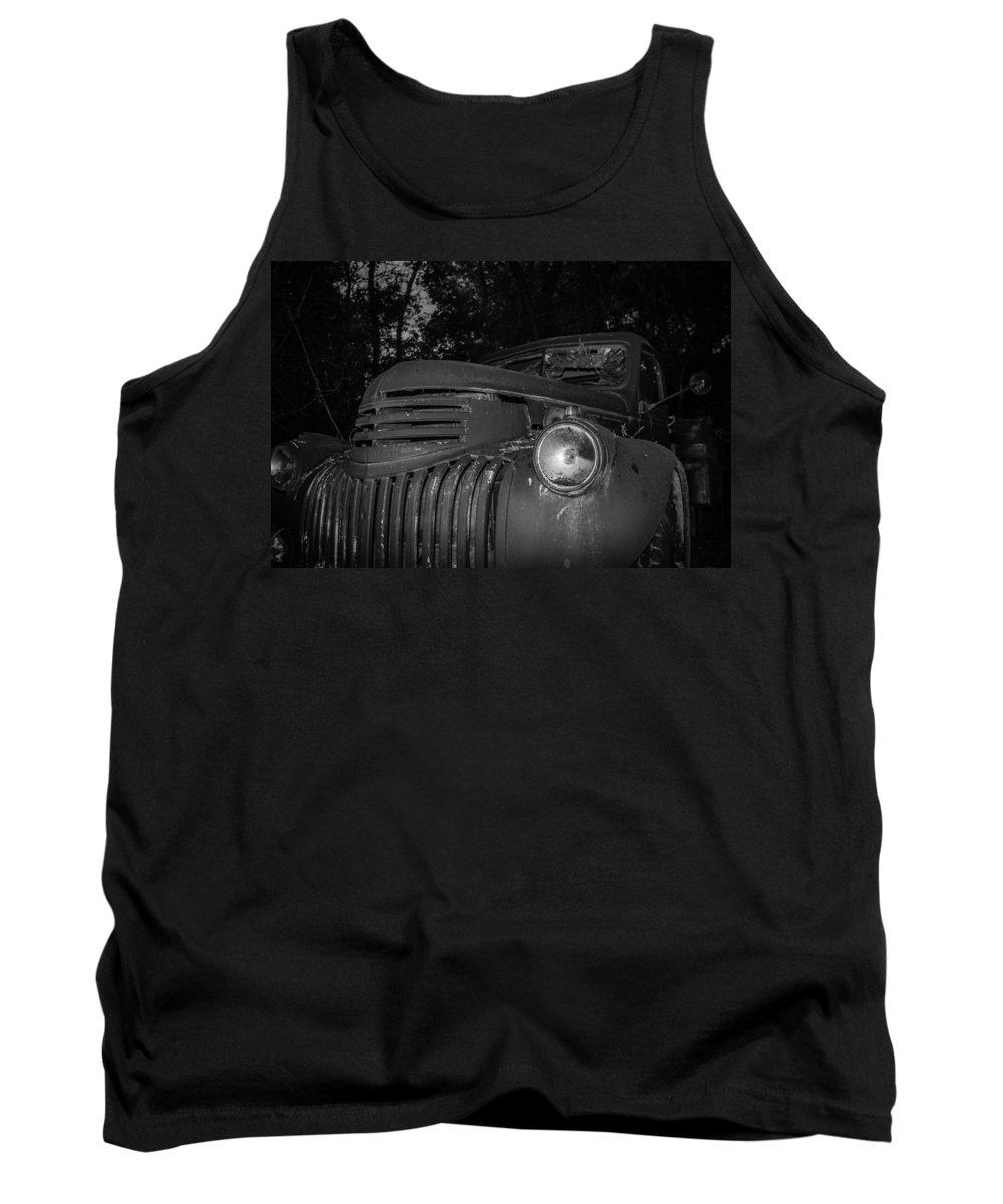 Chevy Tank Top featuring the photograph Old Chevy Truck 2 by Chad Rowe