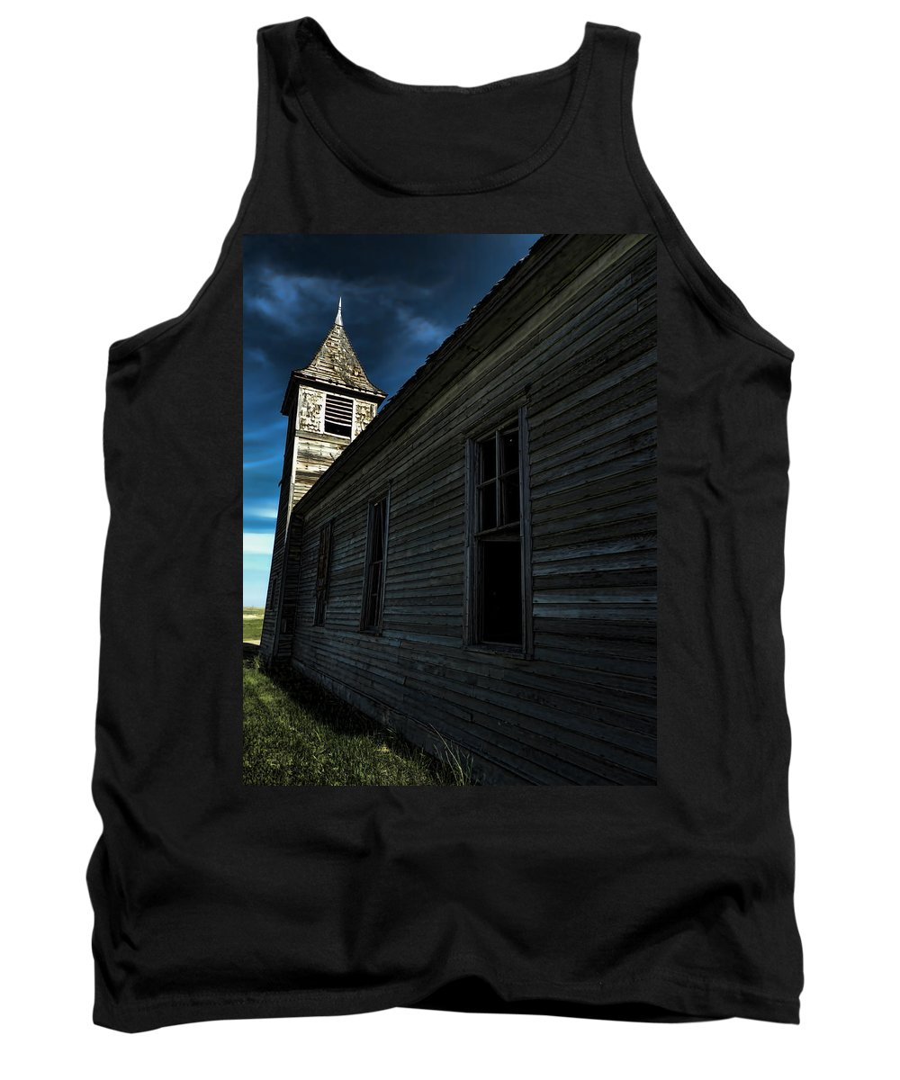 Church Tank Top featuring the photograph Old Church by Cathy Anderson
