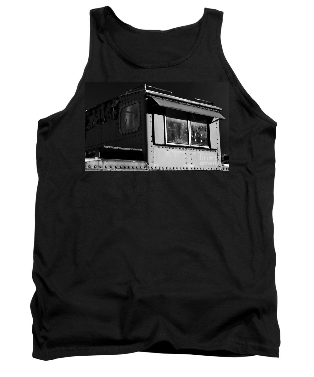 Digital Black And White Photo Tank Top featuring the digital art Old Copula Bw by Tim Richards