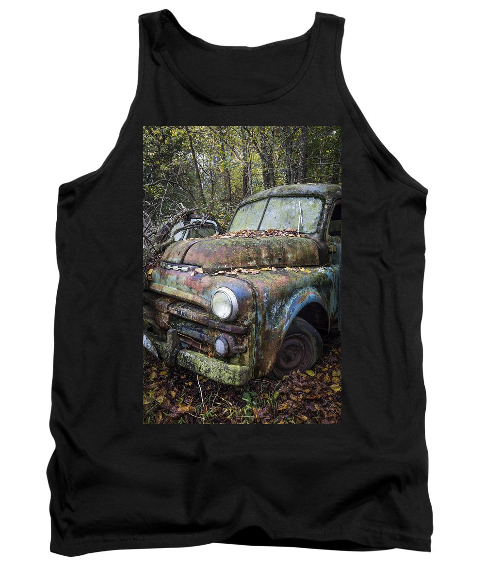 Appalachia Tank Top featuring the photograph Old Dodge Truck by Debra and Dave Vanderlaan