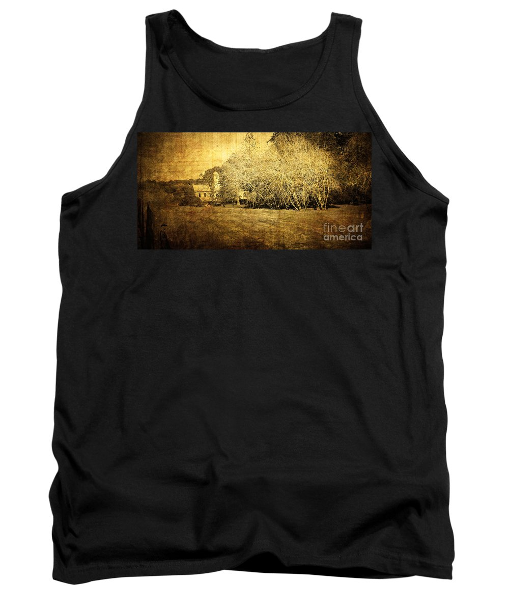 Vintage Tank Top featuring the photograph Old Farm by Phill Petrovic
