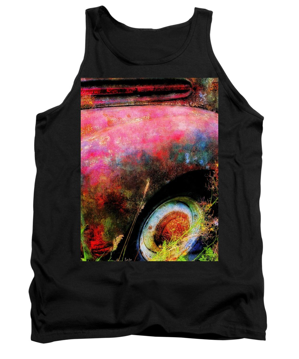 Old Tank Top featuring the painting Old Ford #3 by Sandy MacGowan
