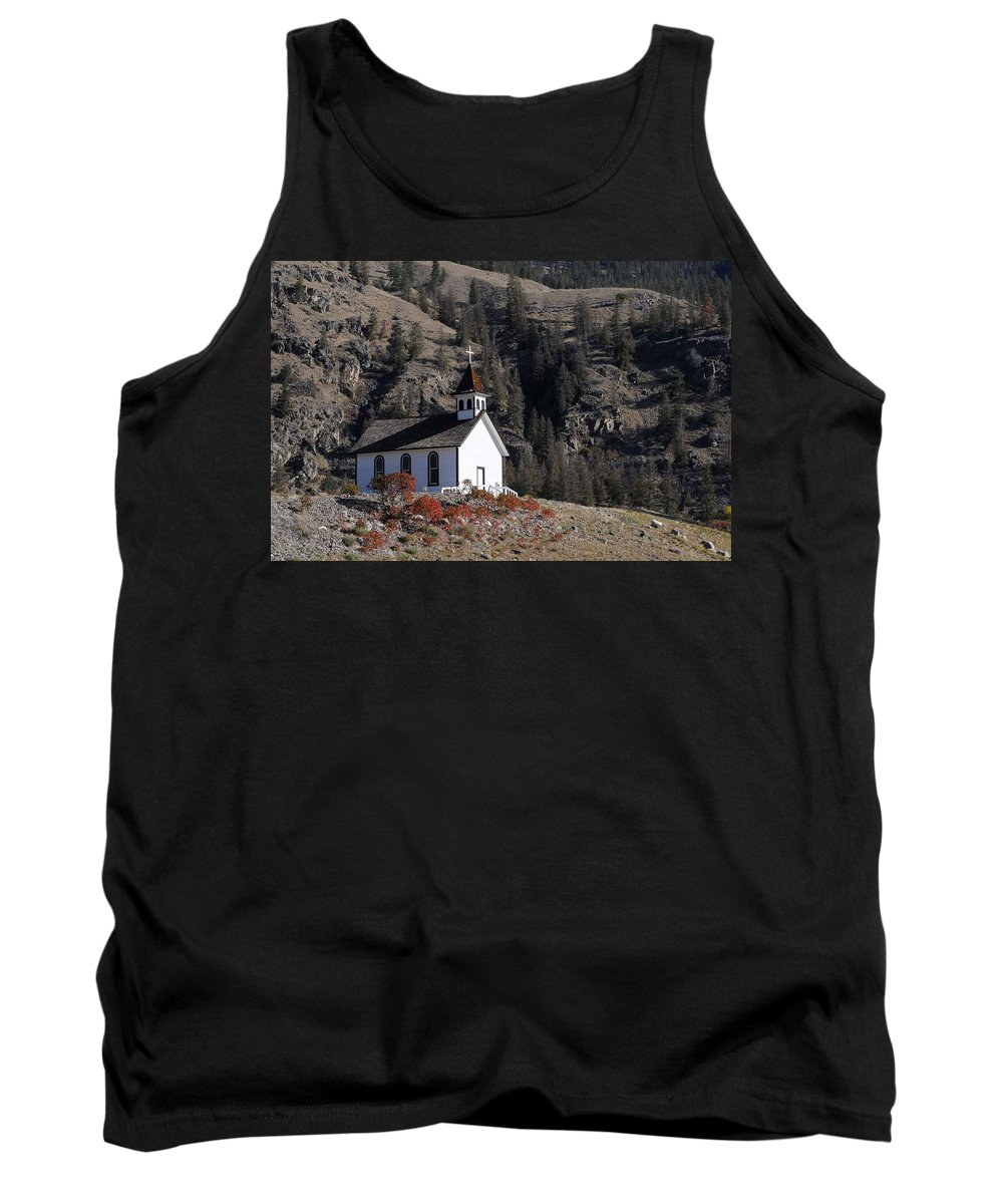 Old Tank Top featuring the photograph Old Headly Church by Randy Giesbrecht