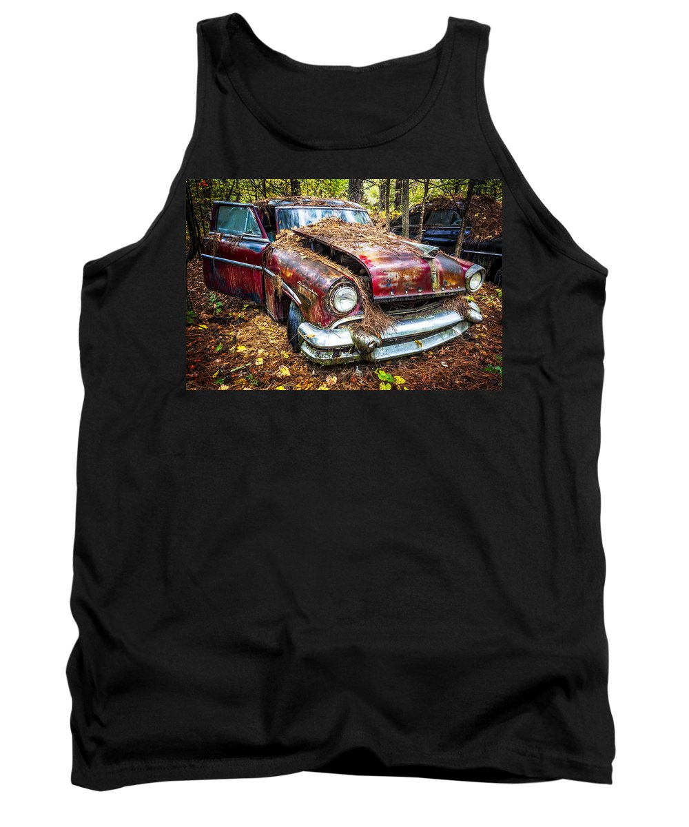Old Tank Top featuring the photograph Old Lincoln by Debra and Dave Vanderlaan