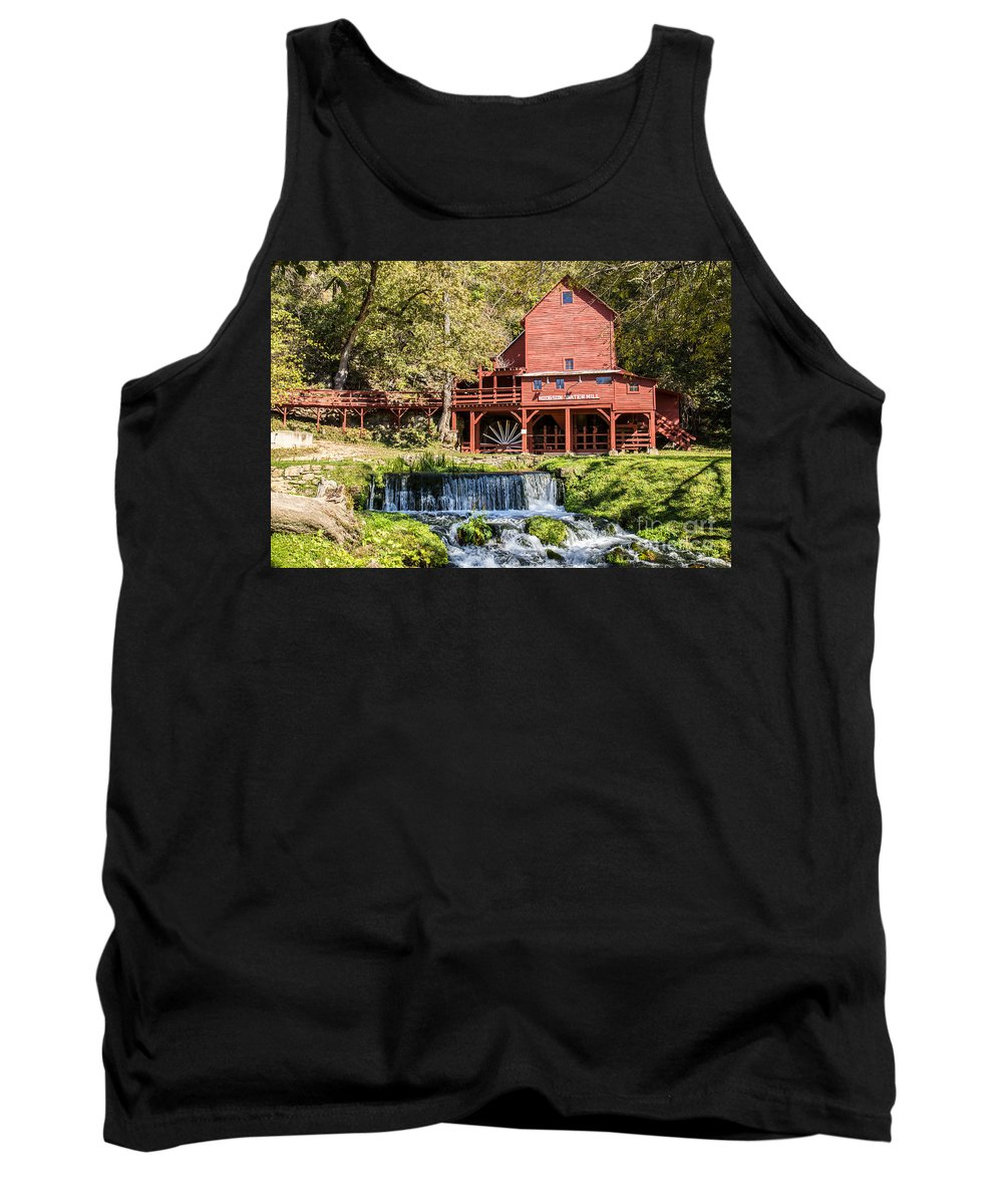 Old Mill Tank Top featuring the photograph Old Mill And Waterfall by Terri Morris