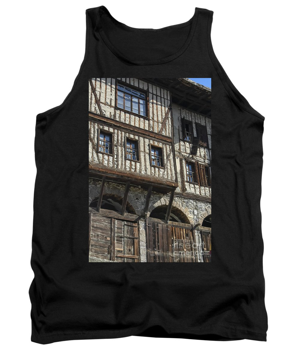 Ottoman House Houses Structure Structures Architecture Building Buildings Safranbolu Turkey Cityscape Cityscapes Window Windows City Cities Tank Top featuring the photograph Old Ottoman House by Bob Phillips