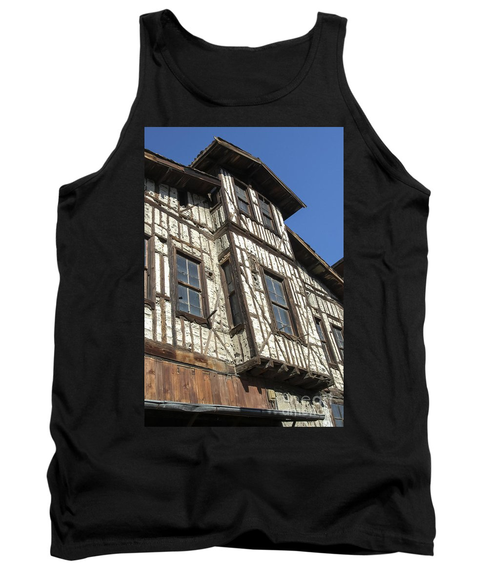 House Houses Structure Structures Ottoman Architecture Building Buildings Safranbolu Turkey Cityscape Cityscapes Window Windows City Cities Tank Top featuring the photograph Old Ottoman Structure by Bob Phillips