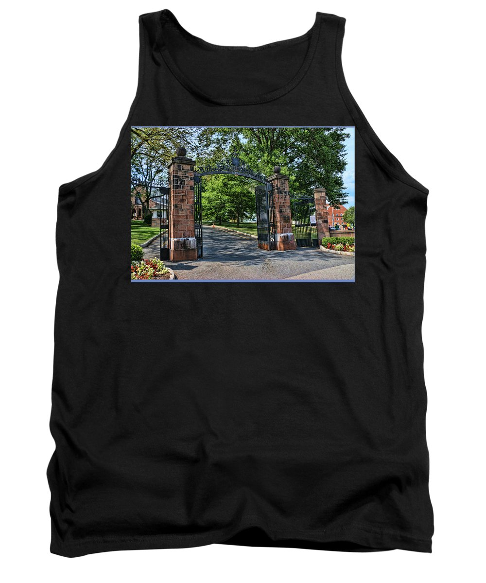 Rutgers Tank Top featuring the photograph Old Queens Entrance Gate by Allen Beatty