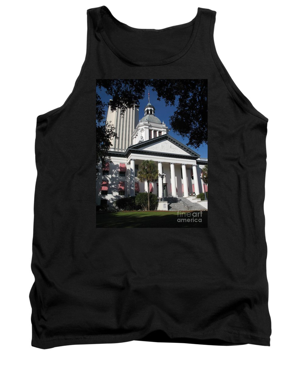 Tallahassee Tank Top featuring the photograph Old State Capitol - Florida by Christiane Schulze Art And Photography