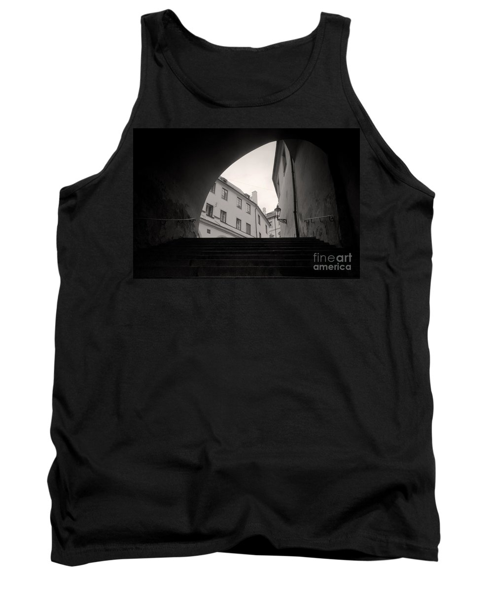 Architecture Tank Top featuring the photograph Old Streets In Prague by Michal Bednarek