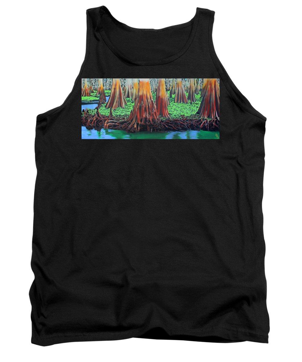 Cypress Tank Top featuring the painting Old Swampy by Deborah Boyd
