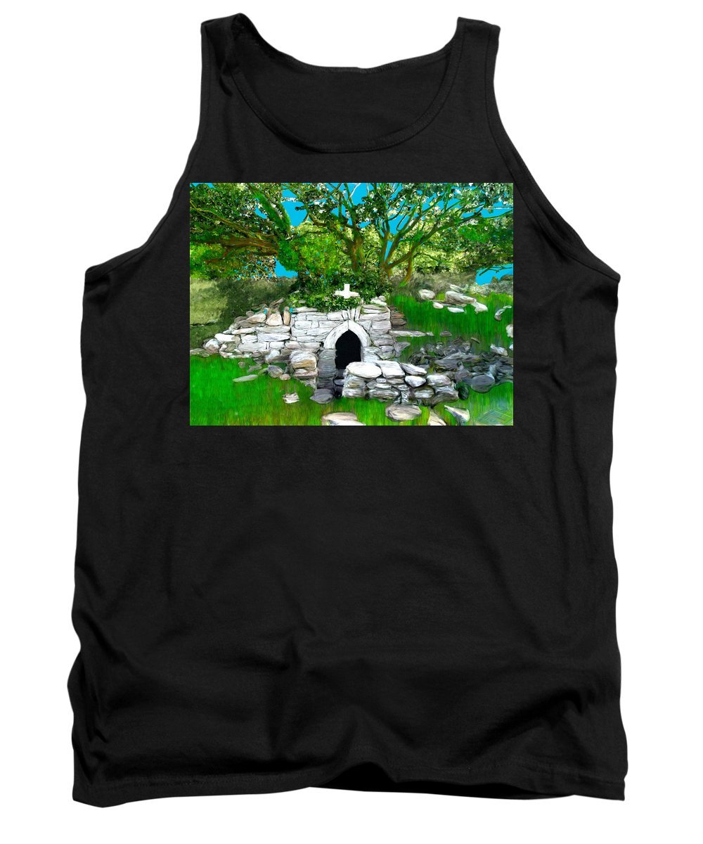 Grave Tank Top featuring the painting Old Tomb In The Countryside Ireland by Bruce Nutting