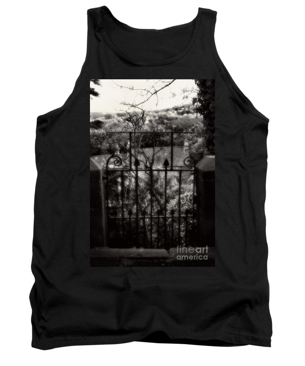 Garden Tank Top featuring the photograph Olde Victorian Gate Leading To A Secret Garden - Peak District - England by Doc Braham