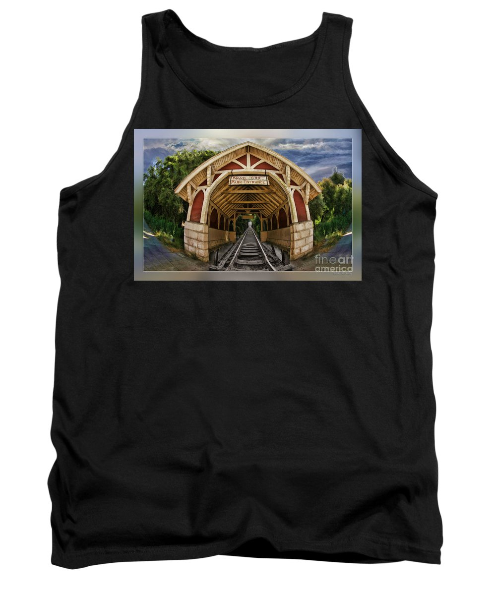 Art Photography Tank Top featuring the photograph Oldest Steamtrain Station San Francisco by Blake Richards