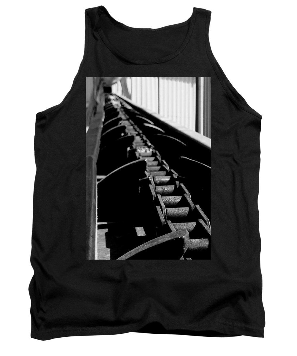 Hopper Tank Top featuring the photograph Olivator Prototype Conveyor 2 by Guy Pettingell