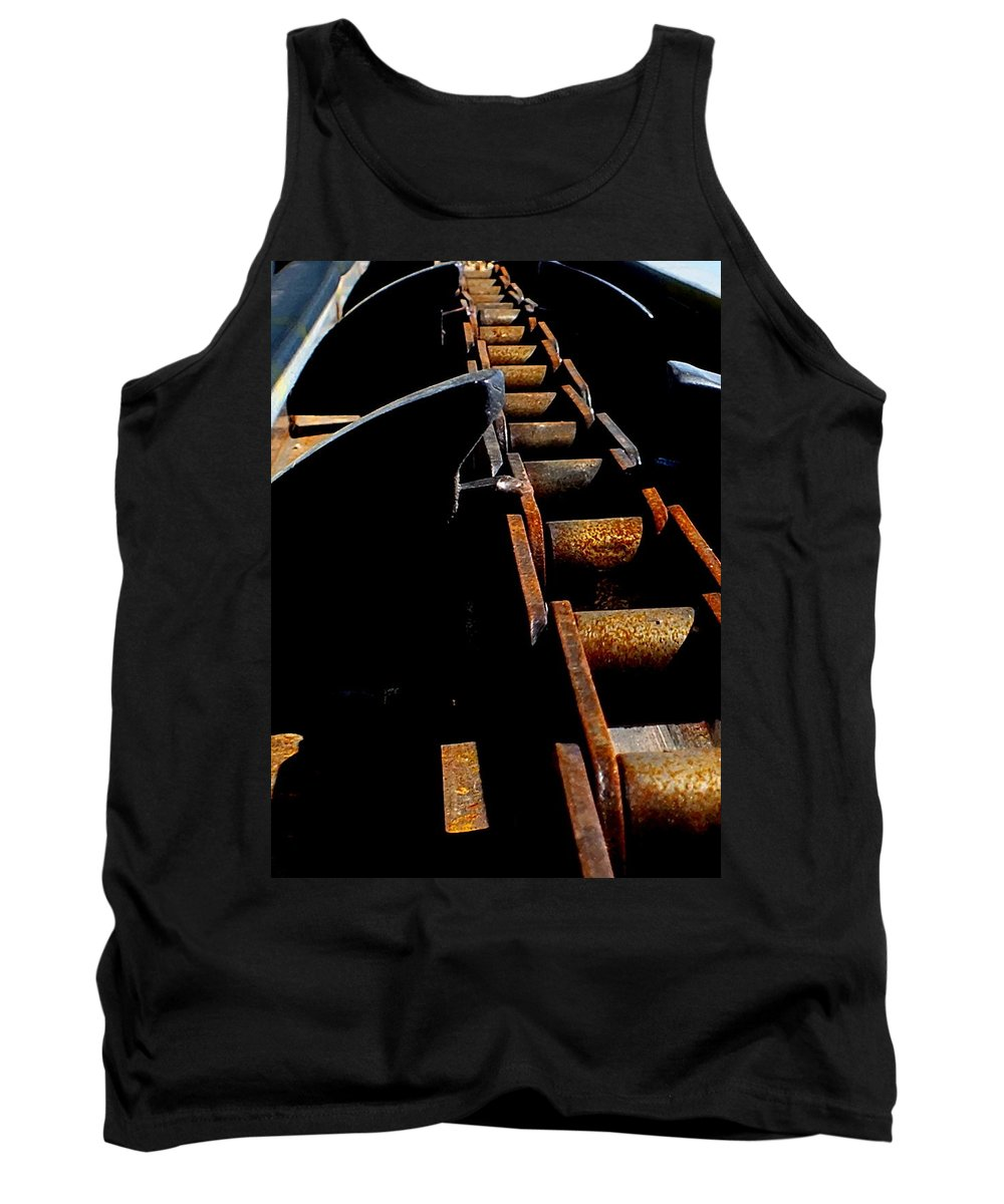 Hopper Tank Top featuring the photograph Olivator Prototype Conveyor by Guy Pettingell