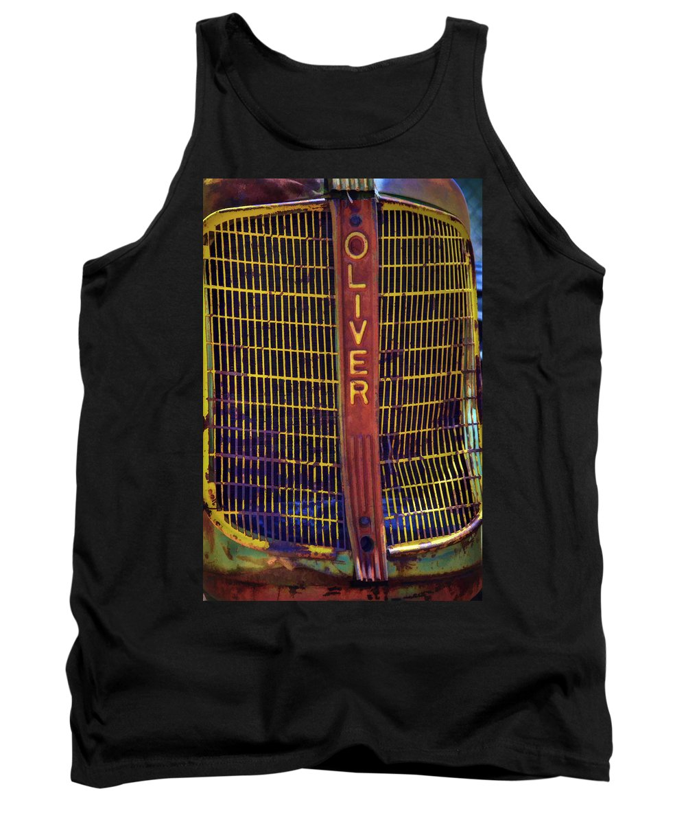 Vintage Tractor Tank Top featuring the photograph Oliver Twisted by Ken Smith
