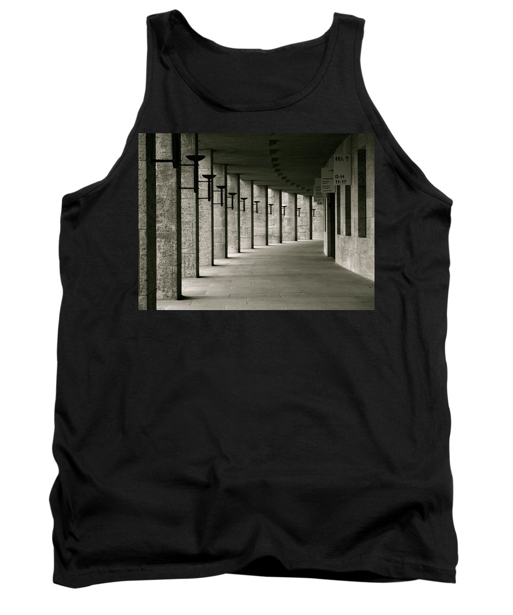 Olympics Tank Top featuring the photograph Olympiastadion Berlin Corridor by Lexi Heft