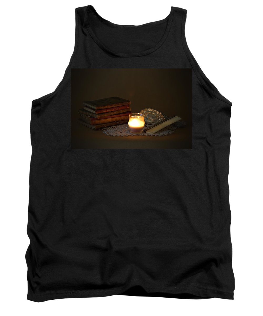 7796 Tank Top featuring the photograph On The Dresser by Gordon Elwell