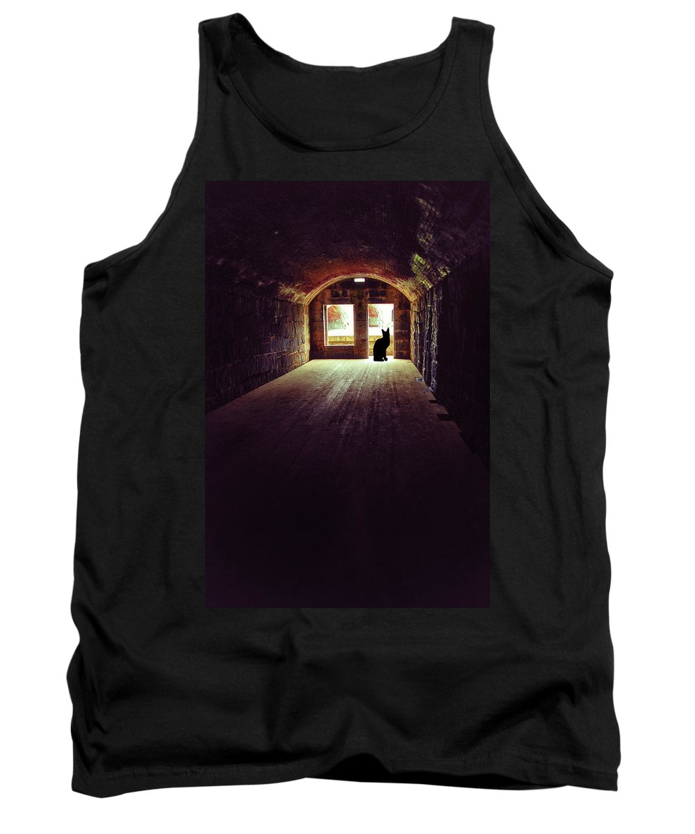Dark Tank Top featuring the photograph On Watch by Karol Livote