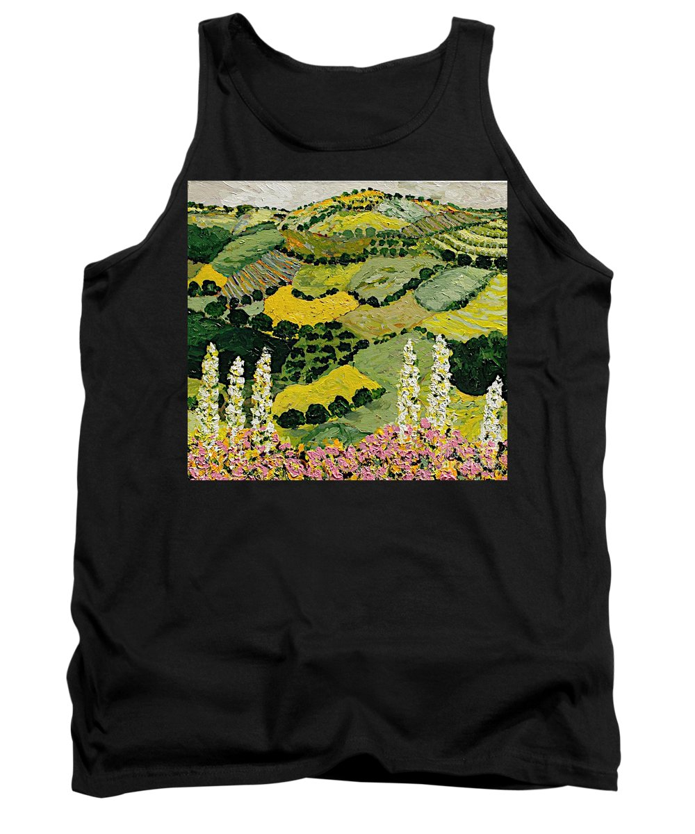 Landscape Tank Top featuring the painting One More Smile by Allan P Friedlander
