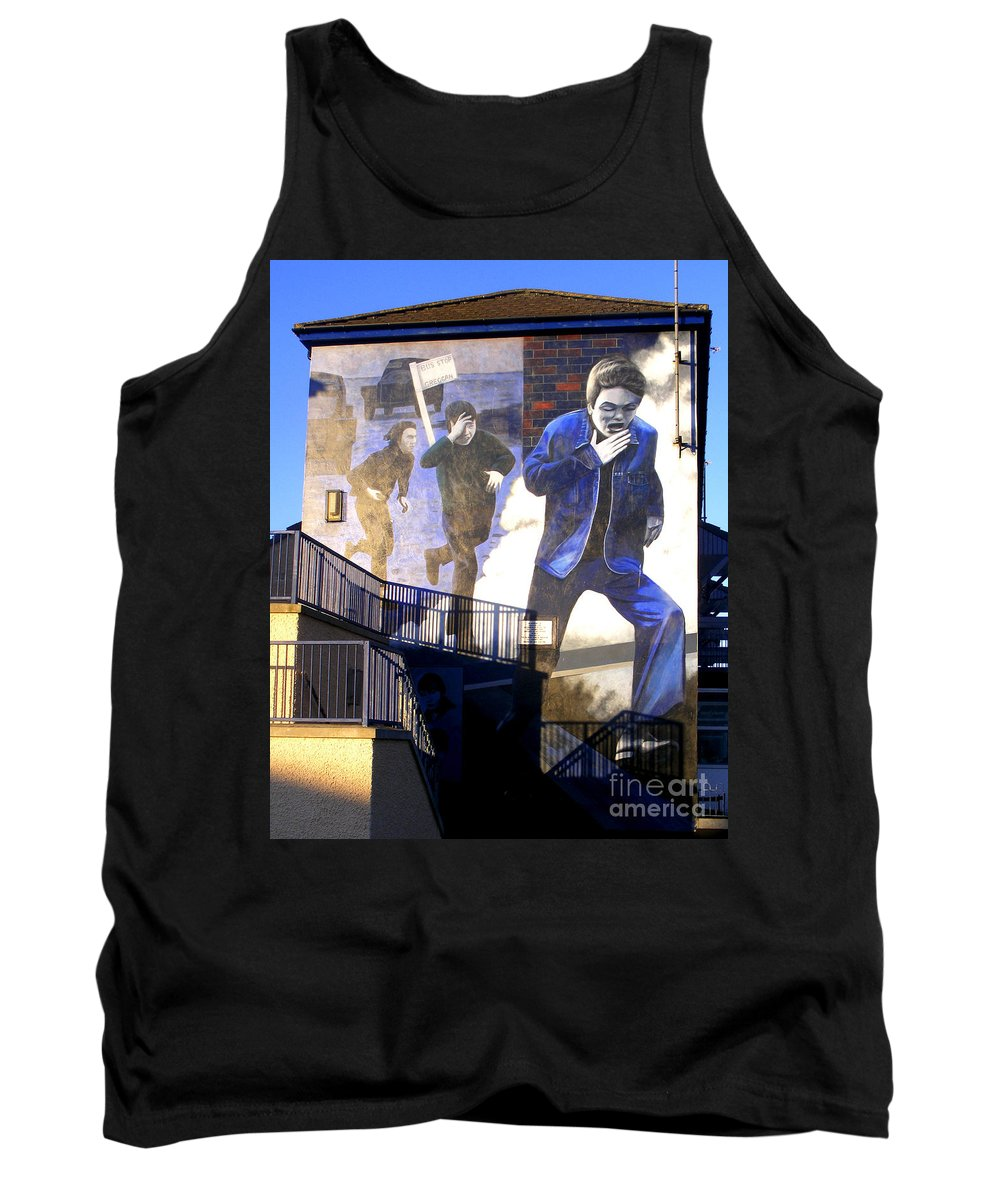 Mural Tank Top featuring the photograph Derry Mural Operation Motorman by Nina Ficur Feenan