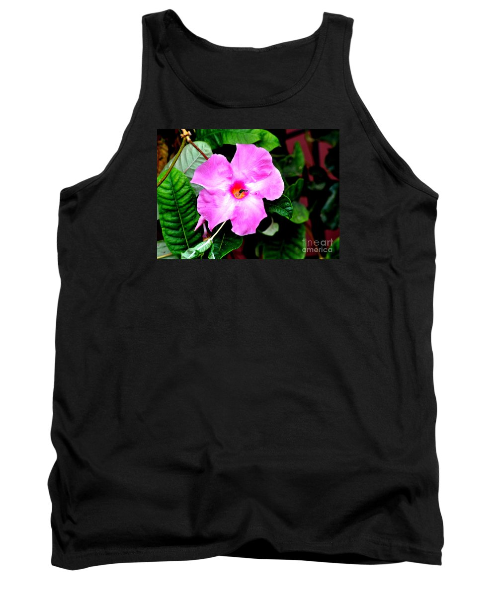 Flower Tank Top featuring the photograph Orchard Colored Mandevilla by Jay Milo