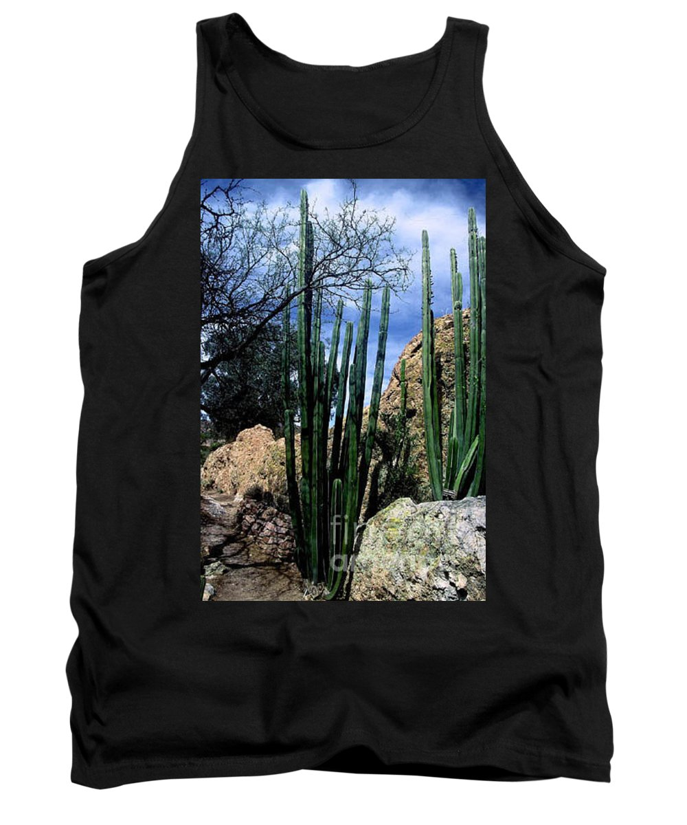 Cactus Tank Top featuring the photograph Organ Pipe by Kathy McClure