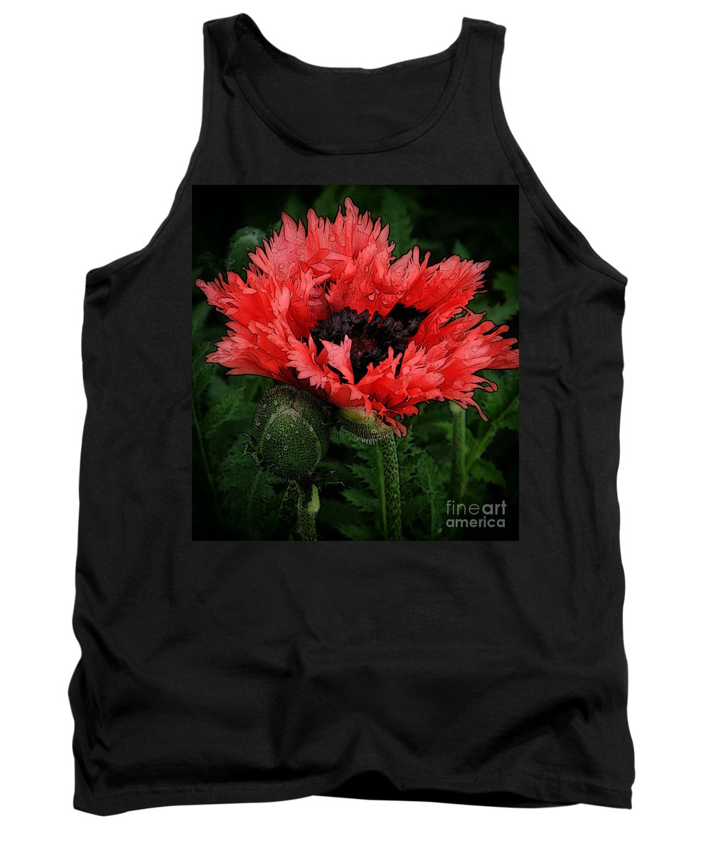 Poppy Tank Top featuring the photograph Oriental Poppy by Mike Nellums