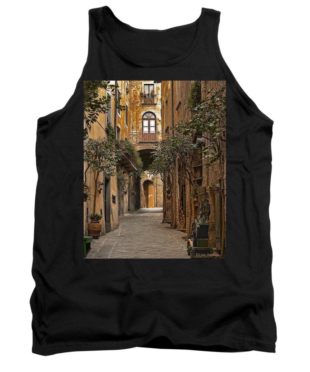 Orvieto Tank Top featuring the photograph Orvieto Side Street by Lynn Andrews