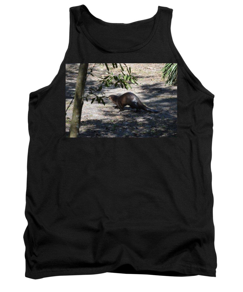 Florida Tank Top featuring the photograph Otter by Linda Kerkau