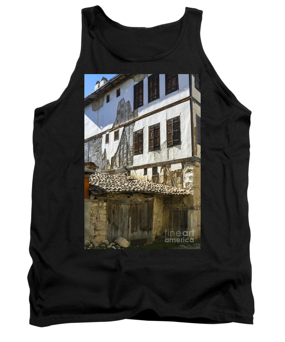 Ottoman House Houses Structure Structures Architecture Building Buildings Yoruk Village Safranbolu Turkey Cityscape Cityscapes Window Windows Shutter Shutters City Cities Villages Tank Top featuring the photograph Ottoman Doors And Windows by Bob Phillips
