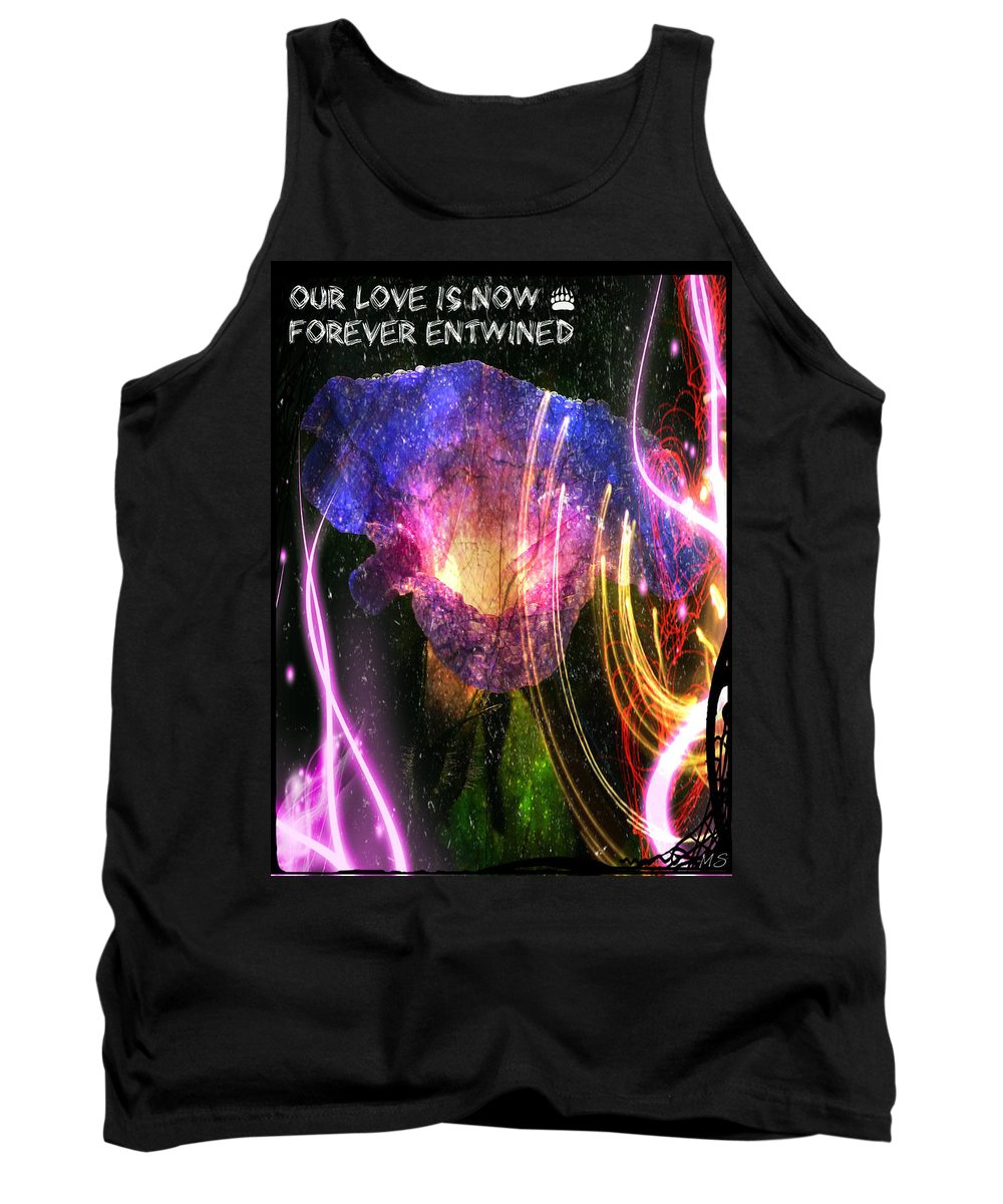 Love Tank Top featuring the digital art Our Love Is Now Forever Entwined by Absinthe Art By Michelle LeAnn Scott
