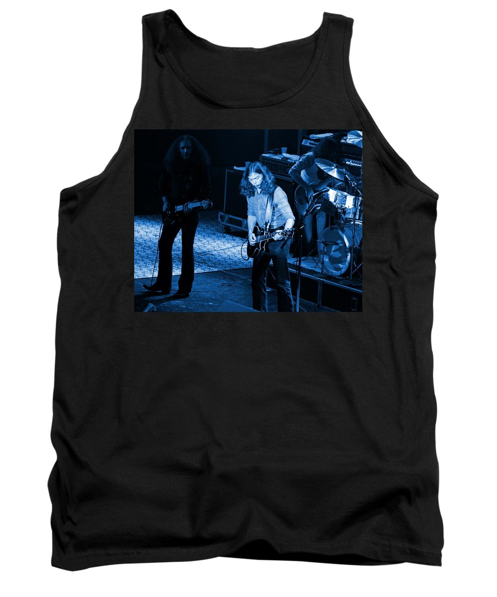 Outlaws Tank Top featuring the photograph Outlaws #21 Crop 2 Blue by Ben Upham