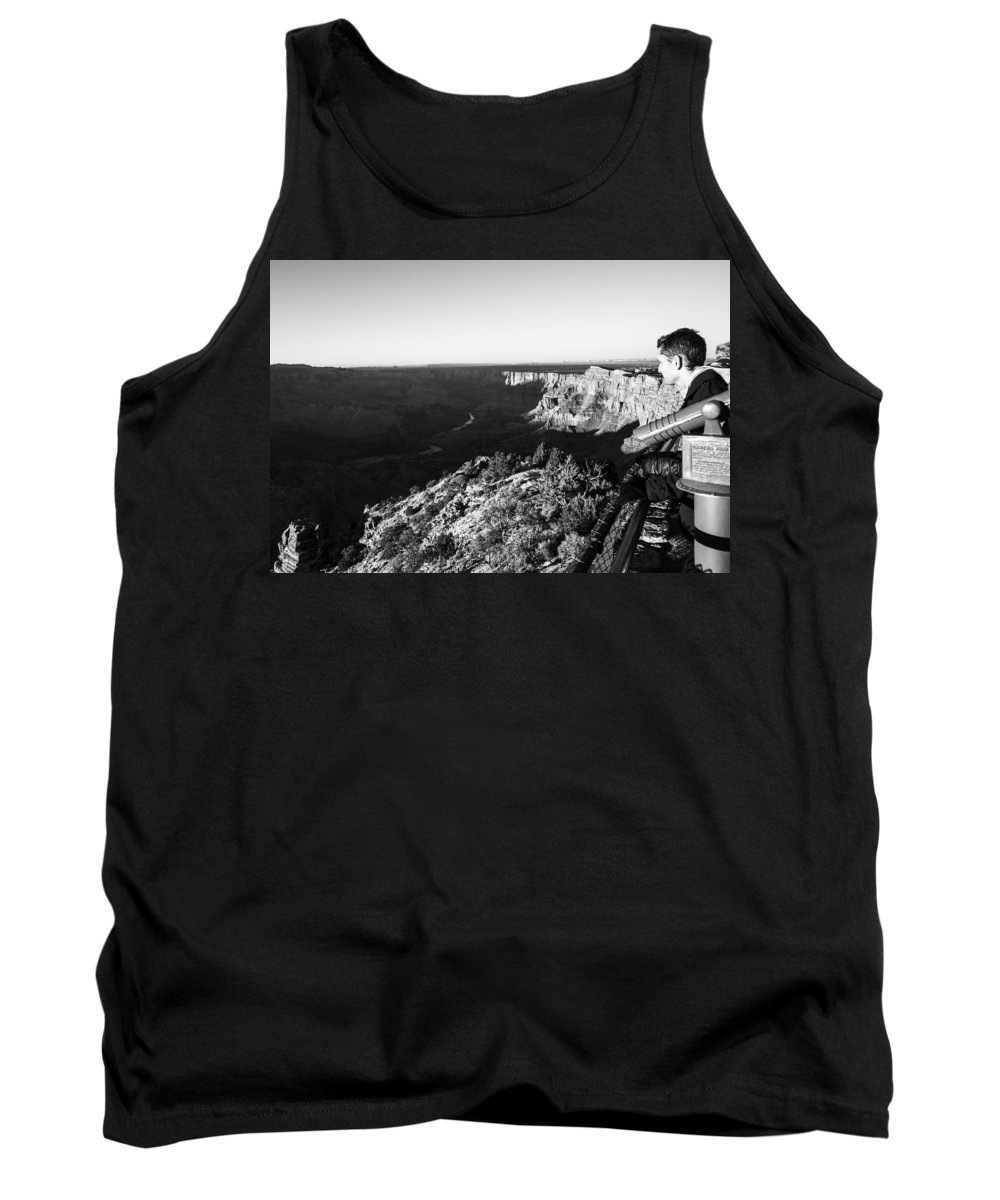 Grand Canyon Tank Top featuring the photograph Overlooking The Canyon by Angus Hooper Iii
