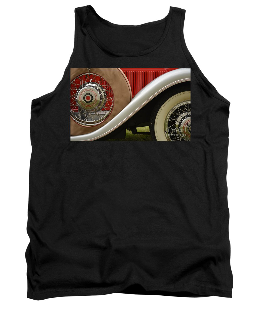 Automobile Tank Top featuring the photograph Pack Up Your Worries In A Packard by Gale Cochran-Smith