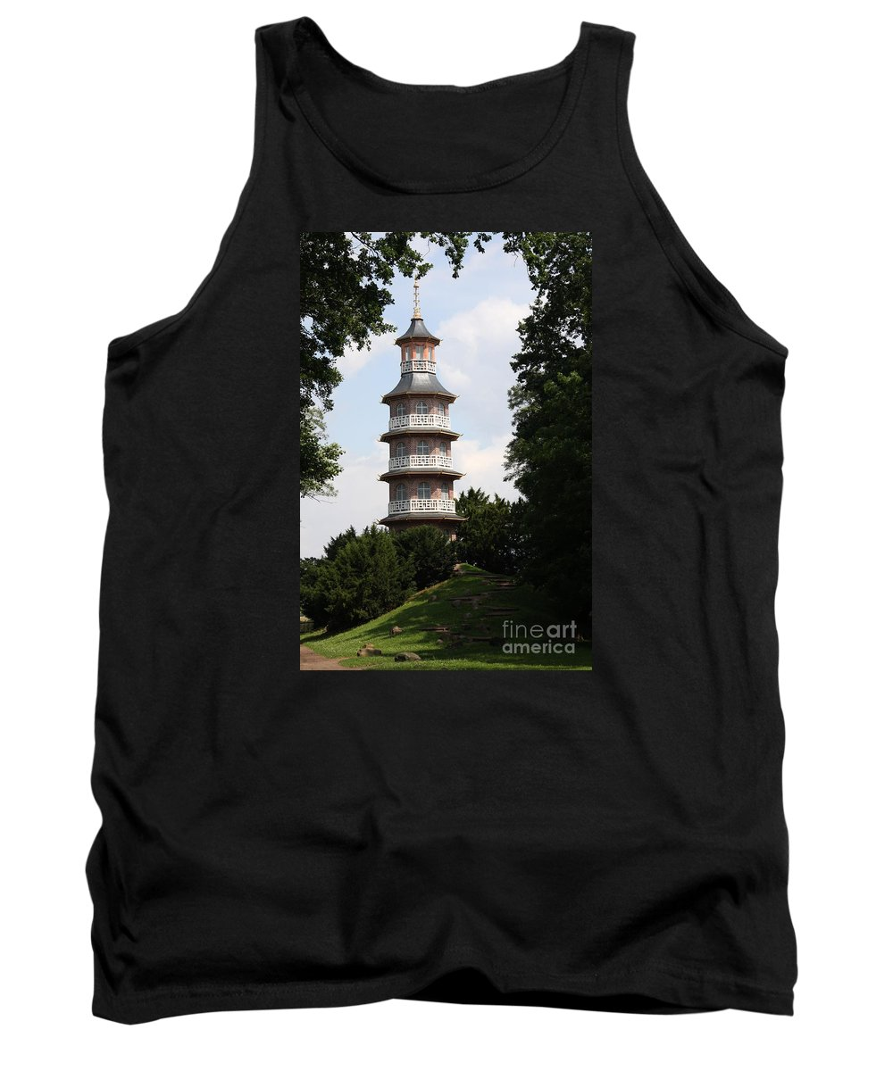 Pagoda Tank Top featuring the photograph Pagoda - Dessau Woerlitz by Christiane Schulze Art And Photography