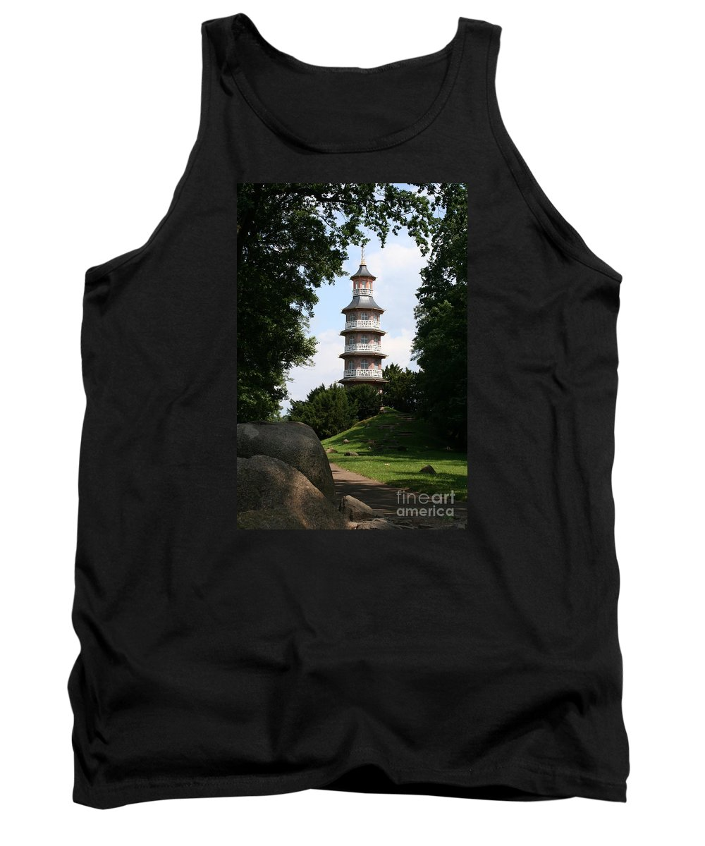 Pagoda Tank Top featuring the photograph Pagoda I - Dessau Woerlitz by Christiane Schulze Art And Photography