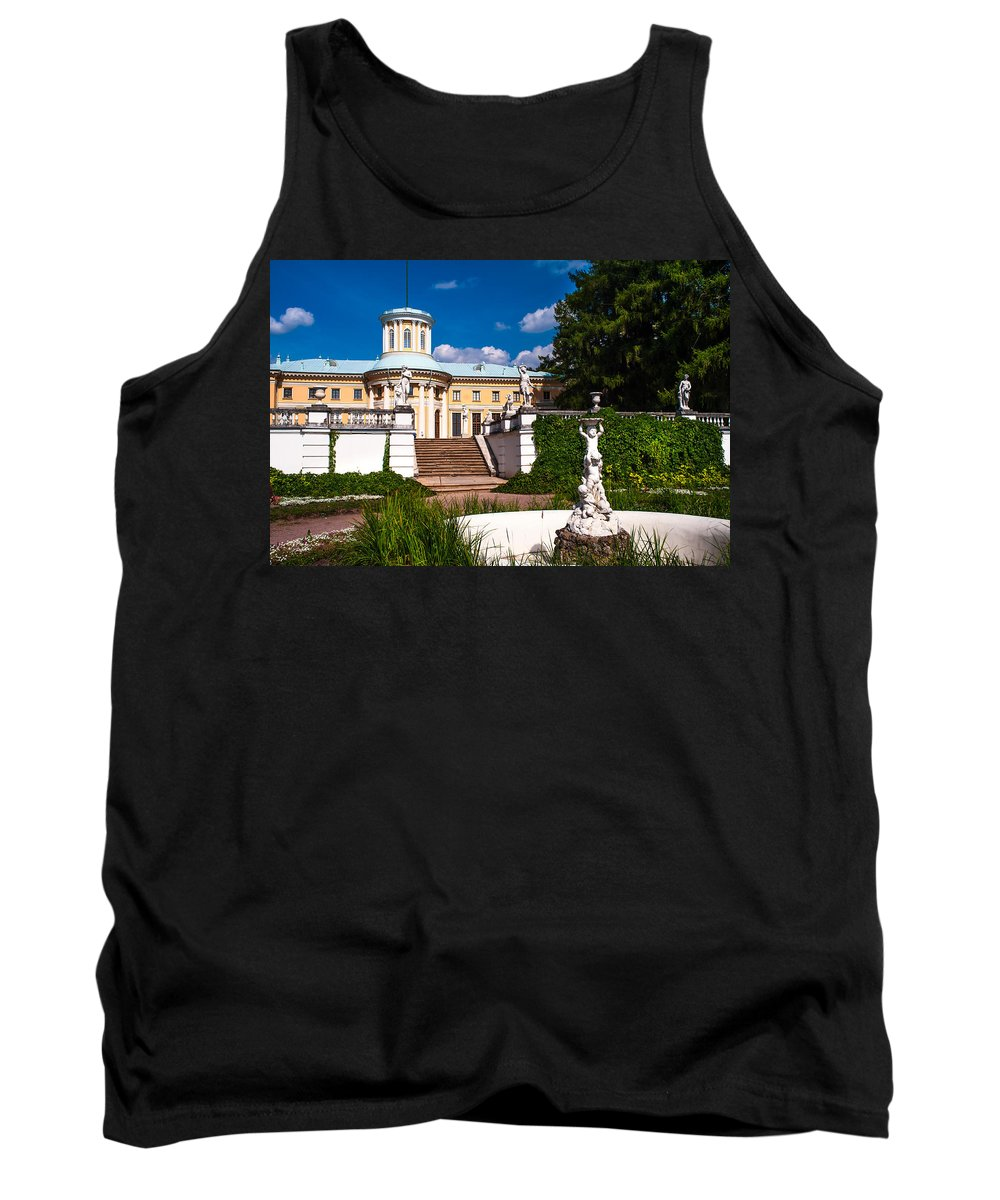 Archangelskoe Tank Top featuring the photograph Palace Archangelskoe. Russian Versal by Jenny Rainbow