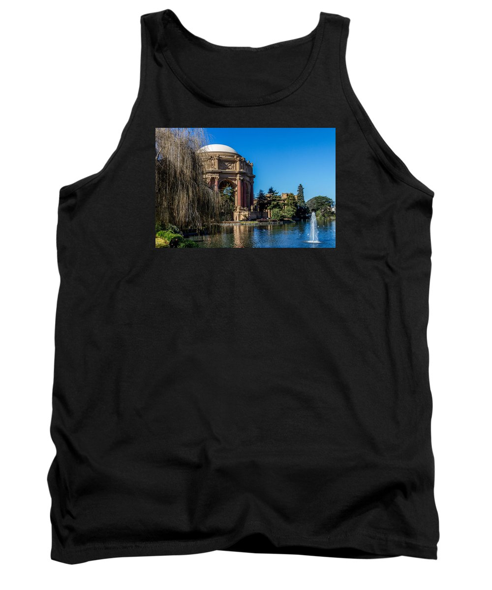 Palace Of Fine Art Tank Top featuring the photograph Palace Of Fine Arts In Color by Bill Gallagher