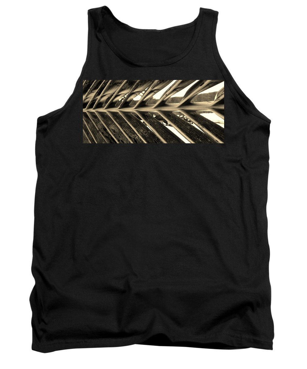 Palm Tank Top featuring the photograph Palms E Sepia by Rob Hans